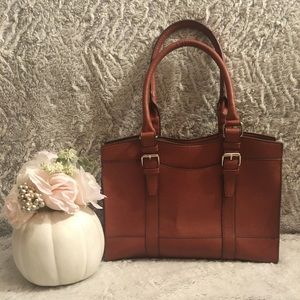 Bueno Brown Faux Leather Satchel